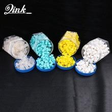 QINK 300 sztuk/butelka miękkiego silikonu tusz do tatuażu Cap nowo zaprojektowany kubek baza atramentu kubki materiały do tatuażu do makijażu permanentnego
