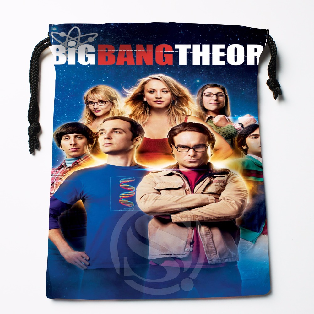 Fl-Q117 New Big Bang Theory 0e Custom Printed  Receive Bag  Bag Compression Type Drawstring Bags Size 18X22cm 711-#Fl117