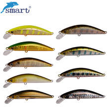 Sensible Minnow Fishing Lure 45mm 3.7g Sinking Exhausting Bait VMC Hook Isca Isca Synthetic Para Pesca Leurre Peche Dur Fishing Wobblers