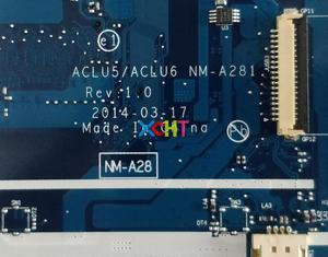 Image 5 - Lenovo G50 45 w E1 6010 1.35 GHz CPU ACLU5/ACLU6 NM A281 Laptop Anakart Anakart için Test
