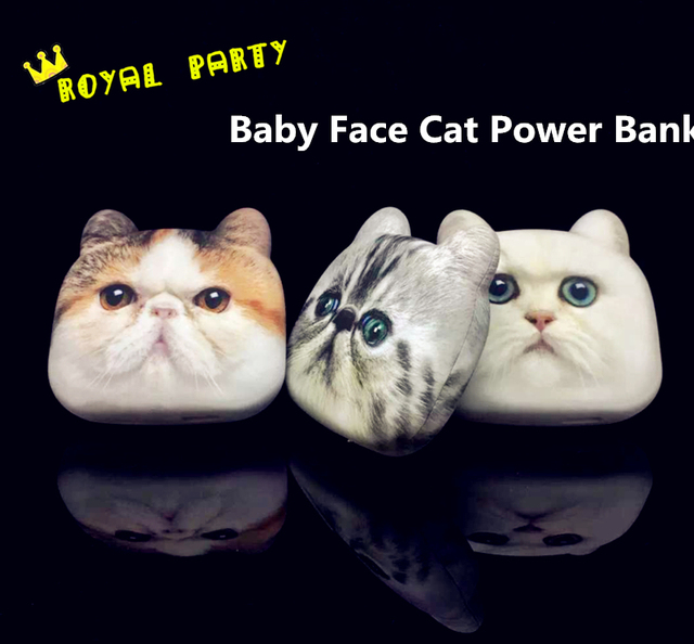 Cute Baby Face Cat Стиль 4800 мАч Power Bank Портативный Внешний Аккумулятор USB Зарядное Устройство Для Всех Телефон Матовый Персидская Кошка PowerBank