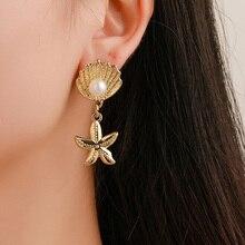 New Sea Shell conch starfish Earrings for Women Brincos Handmade Statement Gift Jewelry Bohemian Fashion Gi