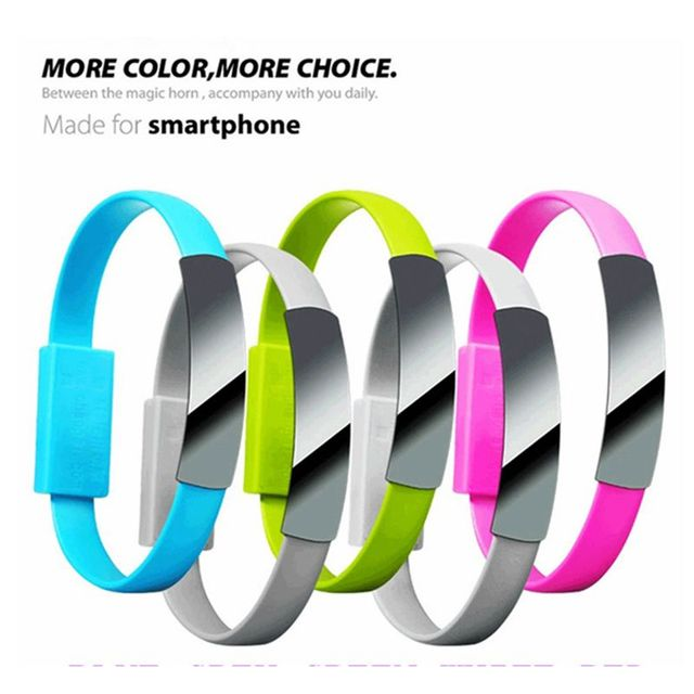 New Arrival Color Optional 15PCS/PACK Wearable magnetic flat noodle cable 22CM With micro USB for Samsung HTC LG Sony  etc.
