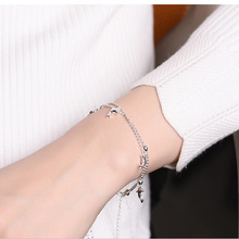 Mulheres da moda Pulseira de Prata Banhado Estilo Peixe Charm Bracelet Para As Mulheres Jóias de Natal Pulseiras Originais