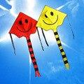 Brinquedo das crianças Ao Ar Livre Grande Sorriso Rosto Voadores Kite Kites com Cauda Vela Cometa Voladora Pipas de Kitesurf Frete Grátis