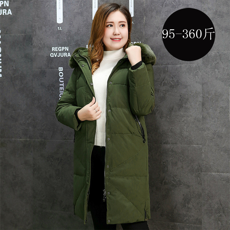 High Quality Winter Jacket Women Parkas Coat Warm Hooded Long Outerwear Plus Size XL-13XL Female White Duck Down Cotton Jacket