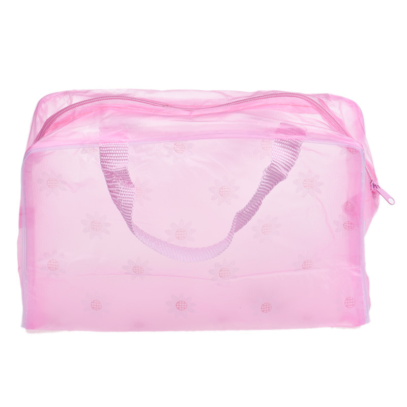 Storage Bag Colors Make Up Organizer Bag Toiletry Bathing Women Waterproof Transparent Floral PVC Travel Cosmetic Bag May28
