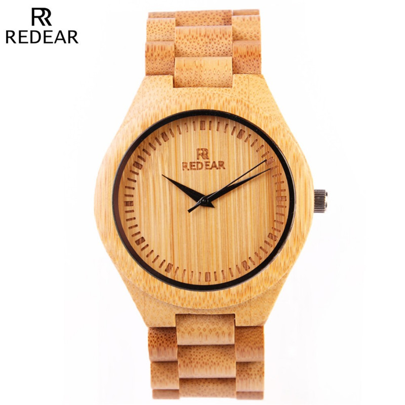 REDEAR Natural font b All b font Bamboo Wood font b Watches b font Top Brand