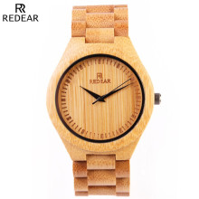REDEAR Natural All Bamboo Wood Watches Top Brand Luxury Men Watch Wth Japanese 2035 Movement For Gift