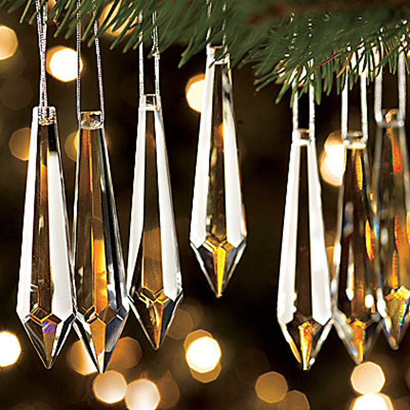 Shining Crystal Prism for Chirstmas Tree Decoration Hanging Ornaments for Garland Strands ...