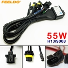 FEELDO 12V 55W H13/9008 Hi/Lo Beam Bi-xenon Relay Harness For HID Conversion Kit #CA4104