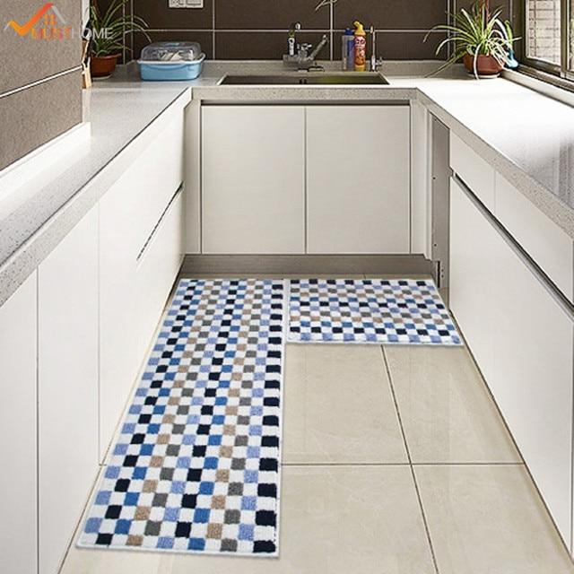 high quality plaid kitchen rugs washable non slip kitchen mats ...