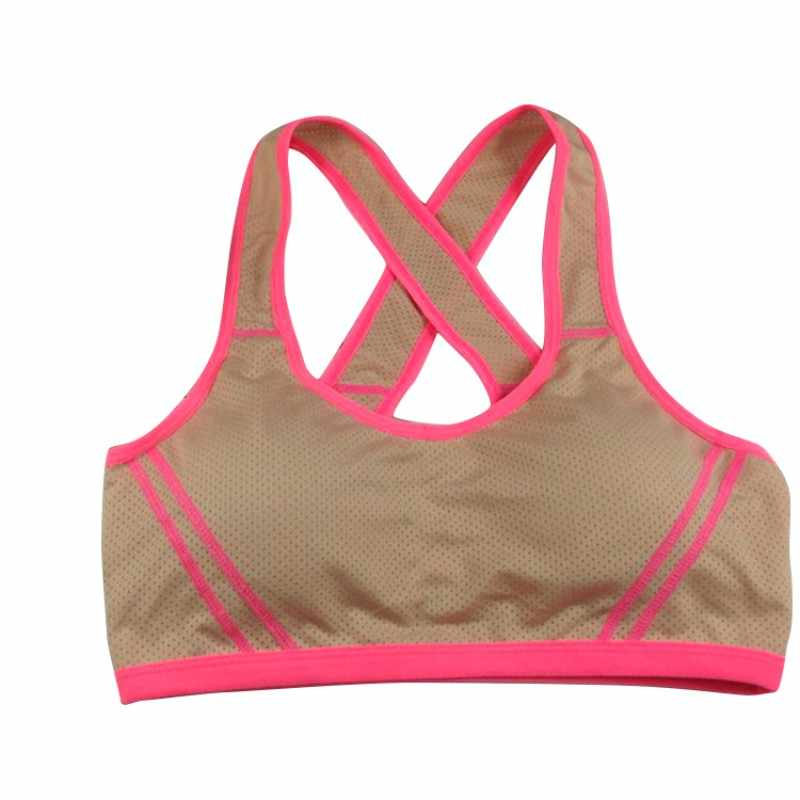 cc0aa863cf6bc ... Women Sports Bra Sexy Padded Absorb Sweat Tank Top Athletic Vest Gym  Fitness Stretch Fitness Seamless ...