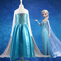 Girls Dress Summer 2016 Ice Blue Girls Clothes Elsa Anna Princess Dress Party Wedding Custom Cosplay  Girls Dresses  Vestido