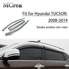 MCrea 4 ピース車の煙窓太陽雨ディフレクターガードヒュンダイツーソン 2008 2009 2010 2011 2012 2013 2014 アクセサリー