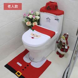 3 шт. крышку унитаза + ковер ноги pad + крышка резервуара для воды + бумажные полотенца Обложка рождественские украшения Happy санта Ванная