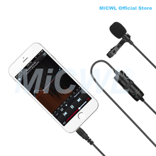 Omnidirectional Camera Lavalier Condenser Microphone Mic for Canon Nikon Sony DSLR Cameras and IOS iPhone 8 7 6 9 Smartphones
