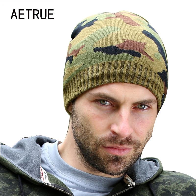 AETRUE New Brand Knit Men Winter Hats For Men Women Bonnet   Beanies     Skullies   Caps Winter Hat Cap Balaclava   Beanie   Gorros 2018