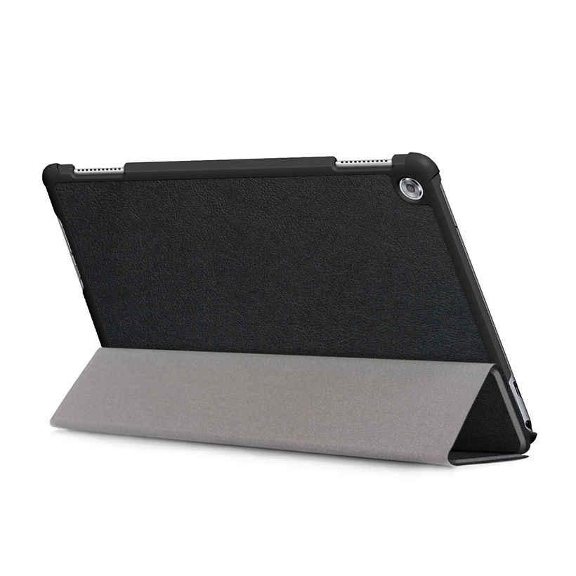 "Ultra Slim Case For Huawei MediaPad M5 Lite 10 BAH2-L09/W19 DL-AL09 10.1"" Cover Funda Tablet PU Leather Stand Shell +Film+Pen"