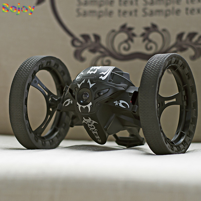 Voiture de rebond de voiture RC 2.4G jouets à télécommande voiture sautante avec Rotation de roue Flexible LED veilleuses voiture Robot RC pour cadeau garçon - 2