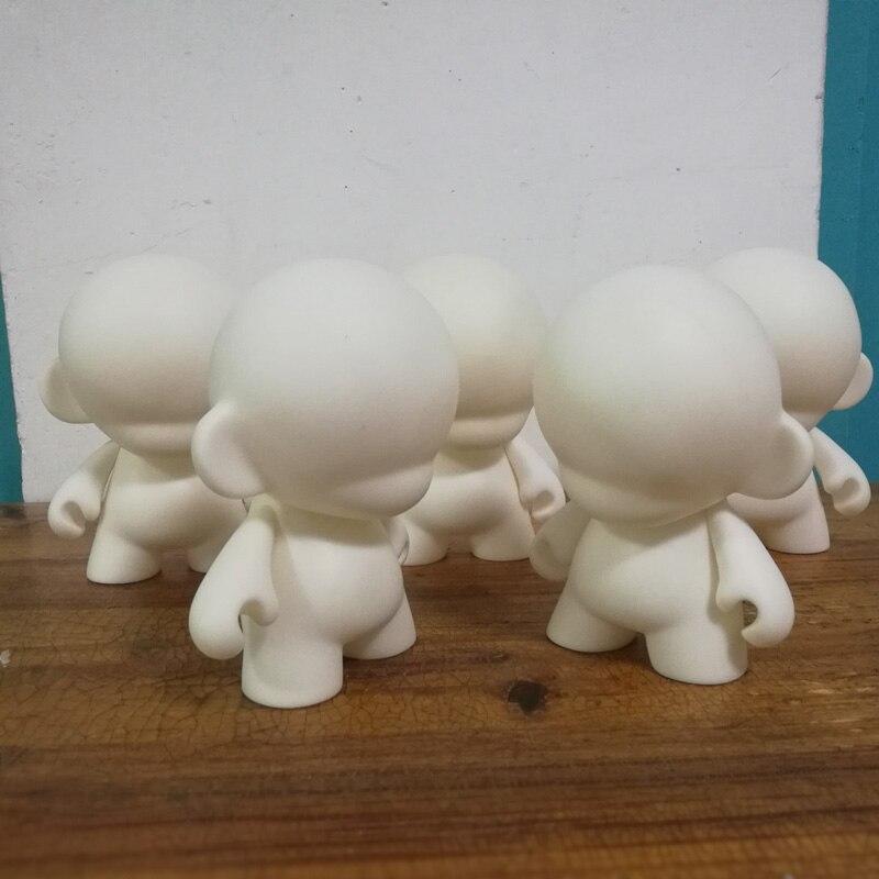 5 pçs/set 6.5 polegada kidrobot branco diy mini vinil pvc boneca brinquedo figura sem pintura munny mundo boneca toy2r 16cm h
