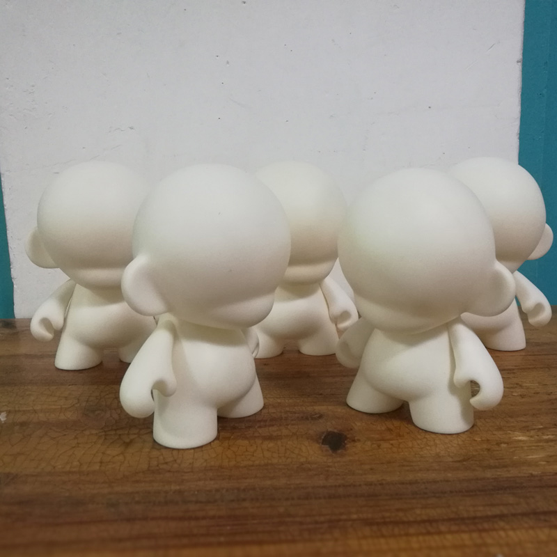 5 in 1 Cute 4 inch Kidrobot Munny Unpainted White Vinyl Art Toy White Embryo DIY
