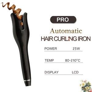 Image 2 - 2019 nuevo rizador de pelo automático profesional de hierro mágico eléctrico rodillo rizador de pelo herramientas de cerámica para estilizar el cabello