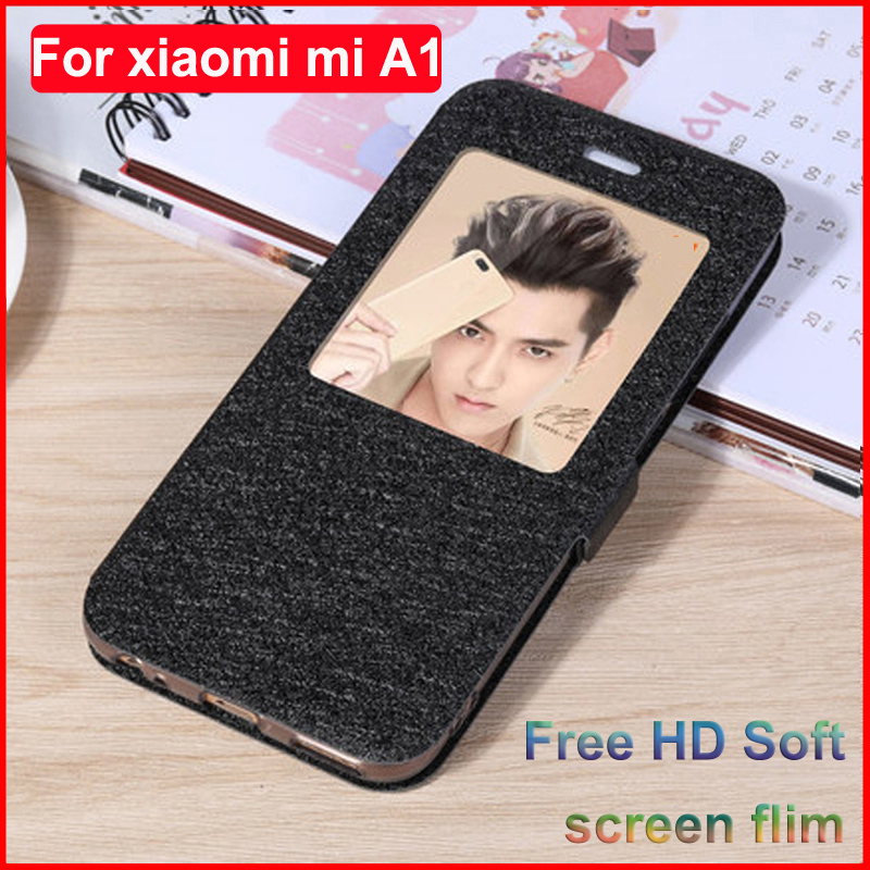 For <font><b>xiaomi</b></font> mi A1 flip case leather shell xiao mi A1 5.5