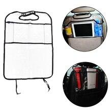 Dewtreetali Anti-kick Car Seat Back Protector Cover Children Kick Mat Auto Storage Bag Multi Pocket Multi-purpose