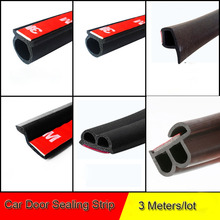 3M/lot Car Door Seal Strip Sticker Anti-Dust Soundproof Sealing Big D Z P B Type Noise Insulation Goods Auto Interior Accessory