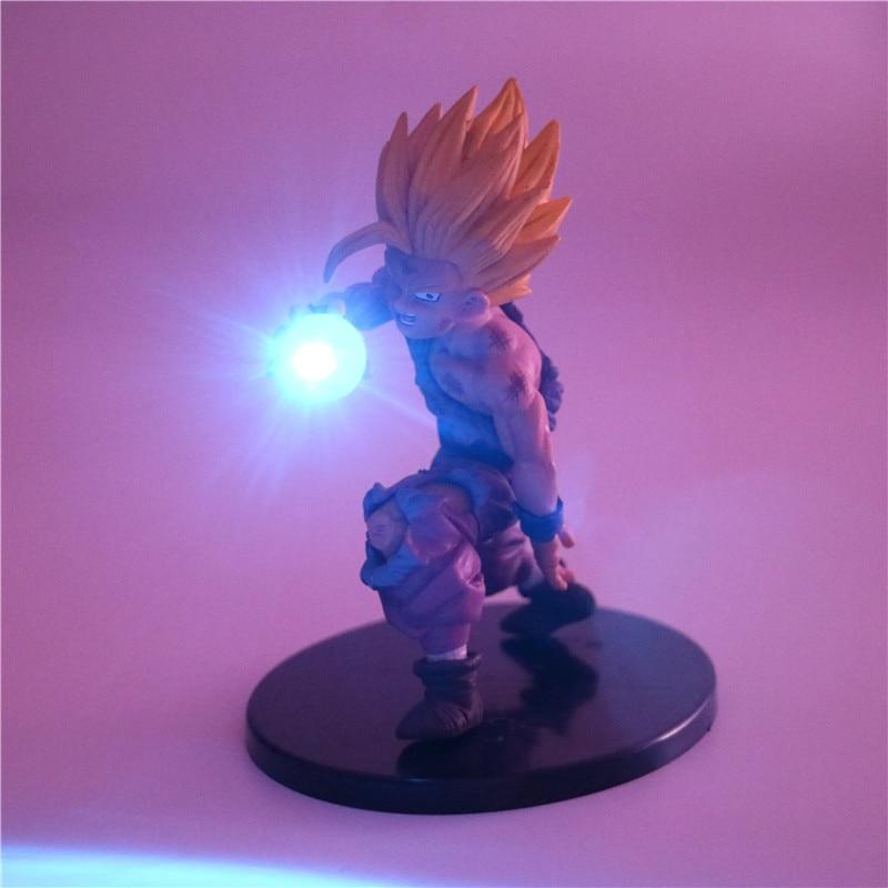 DIY Anime Model Figurine Goku Son Collectible Night Light Baby Dolls Dragon Ball Z Action Figures for Children Kids Toys Gift figurine