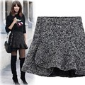 Hot Sale Autumn Winter Women's Plus Size Skirts Female Pencil Skirt Fashion Woolen Short Skirt Saias Femininas Winter Skirt
