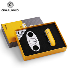 COHIBA Windproof 3 Torch Jet Flame Butane Gas Metal Cigar Li