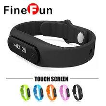 Finefun смарт-браслет E06 Сенсорный экран Смарт умный Браслет для андроид iOS Водонепроницаемый фитнес-трекер браслеты