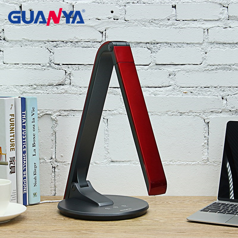 GUANYA 8W Dimmable LED Desk Lamp Light Touch Switch Folding Eye Protection LED Table Light Lamp Office Reading Light Lamp usb led desk lamp rechargeable table lamp touch switch dimmable table light eye protection for children table light adjustable