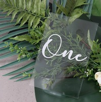 Acrylic Table Numbers Event Acrylic Wedding Sign .Table Decorations,Perspex Wedding Signage,Calligraphy Table Numbers,White