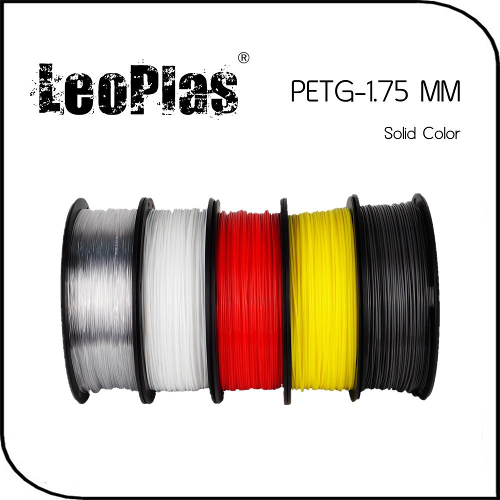 Prix pour Dans le monde entier Rapide Livraison Directe Fabricant 3D Imprimante Matériel 1 kg 2.2lb Solide Couleur 1.75mm PETG Filament