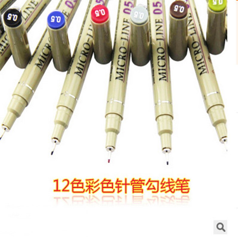 Superior 12 Color Drawing Brush Pen Set Artist Soluble Colors Sketch Marker for School Drawing Design Paints Art Supplies