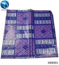 LIULANZHI bazin riche getzner african damask fabric blue scarf 5yards/piece 2018 high quality for clothing/dresses XB89