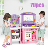 Kids Kitchen Toys Pretend Play Cooking Toys Tableware Sets Baby Kitchen Cooking Simulation Model Happy Pretend Play Toys Kitchen