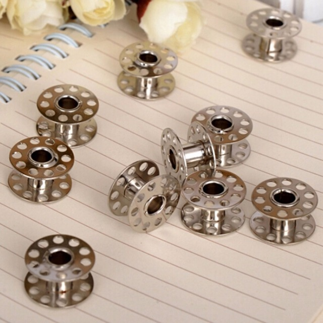 Empty Stainless Steel Bobbins Spool For Brother Janome Singer Elna Custom Bobbins For Elna Sewing Machine