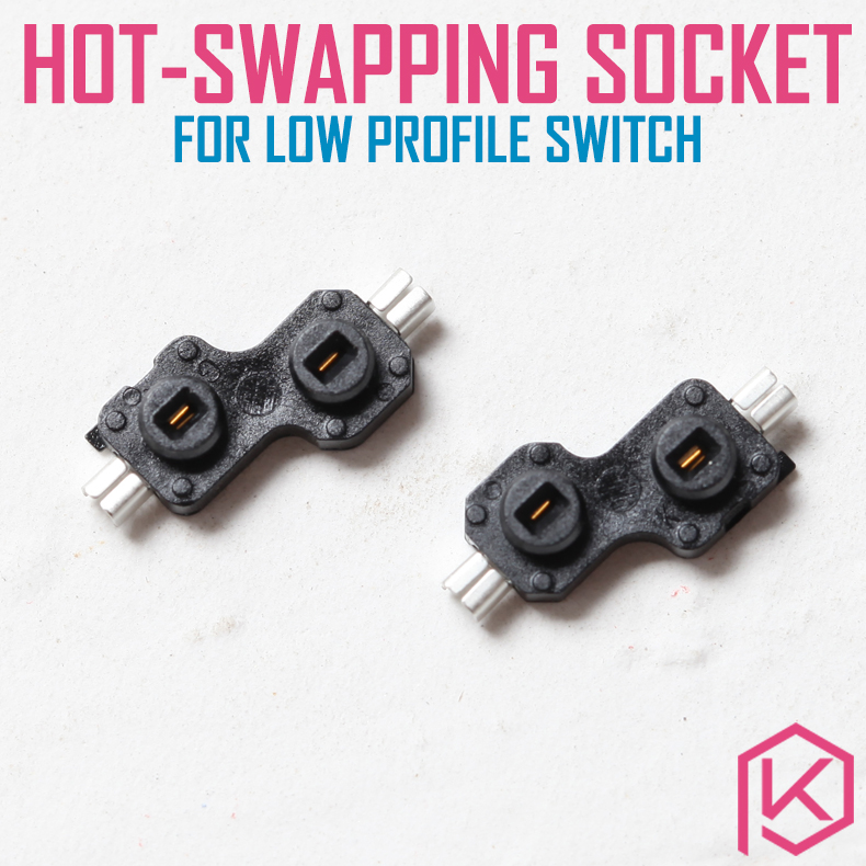 Kailh Hot Swapping Pcb Sockets For Choc Kailh Low Profile Switches For Xd75 Series Smd Socket 1pcs