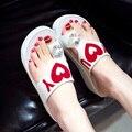 New sandalias plataforma women fashion summer shoes 2017 ladies big rhinestone high heel platform wedges slippers & flip flops