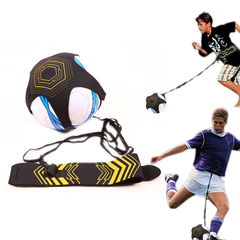 Children Soccer Trainer Belt Adjustable Kids Football Training Equipment Kick Practice Auxiliary Soccer Ball Juggle Bags 19ing