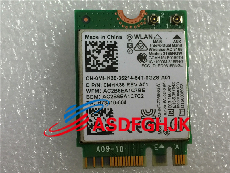 Original For Dell Inspiron 15 7559 15 7000 AC 3165NGW 433M WiFi Bluetooth NGFF 802 11