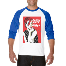 Men T-Shirt Girl Print Three Quarter Raglan Sleeve Cotton Casual Printed Clothes Tops Tee Shirts Funny Men T Shirt Free Shipping цена 2017