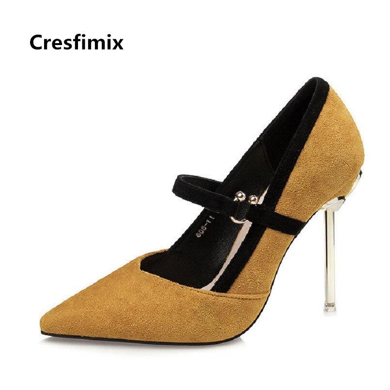 Zapatos Mujeres Linda Cm Flock a Femmes Talón 10 Garras c Cresfimix Primavera A2624 Moda Cómodo Verano Tacón Alto Hauts Partido De d B Señora 7tx0wqpC