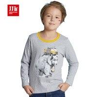 Jongen animal t-shirt kids tshirts kinderen tees 2016 fall zachte 100% katoen mode jongens kleding print kids tshirts maat 6-15 t