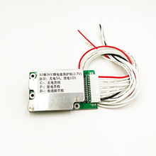 Colaier Batería de bicicleta eléctrica, 10S, 36V, celda de litio Li ion 15A 18650, protección de batería, BMS PCB Board Balance