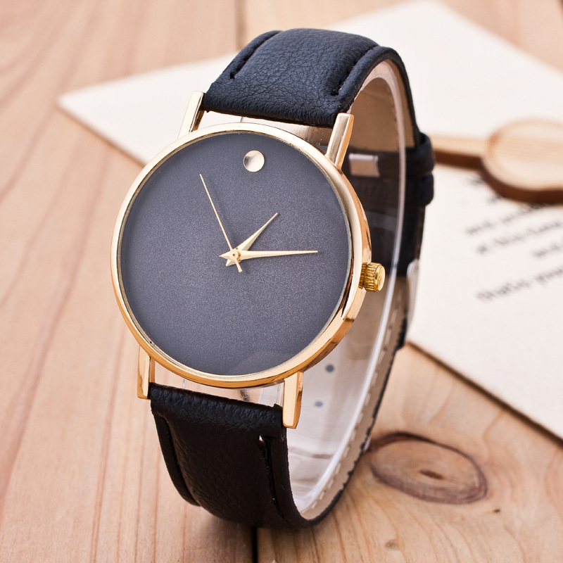 New Simple Geneva Watches Women Men Diamond Leather Strap Casual Quartz Watch Women Dress Wrist Watches